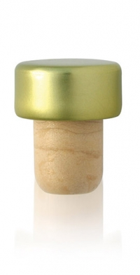 Synhtetic Stopper Aluminium Gold head 28,5x14